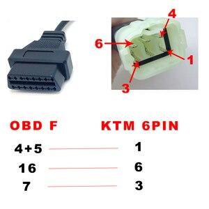 Image 4 - KTM 6 контактный для obd 16 контактный адаптер кабель для программного обеспечения TuneECU для мотоциклов и мотоциклов, ECU 6pin кабель