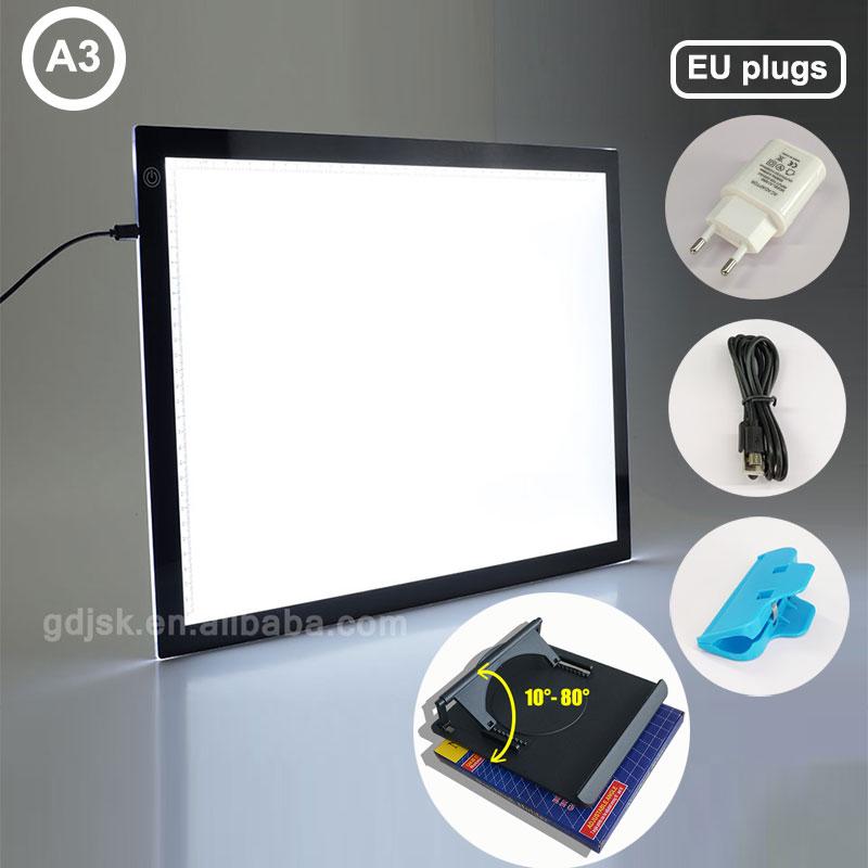 1 قطعة A3 LED تتبع لوحات السوبر رقيقة ضوء منصات المهنية الرسوم المتحركة تتبع ضوء وسادة أدى ضوء الجدول للرسم