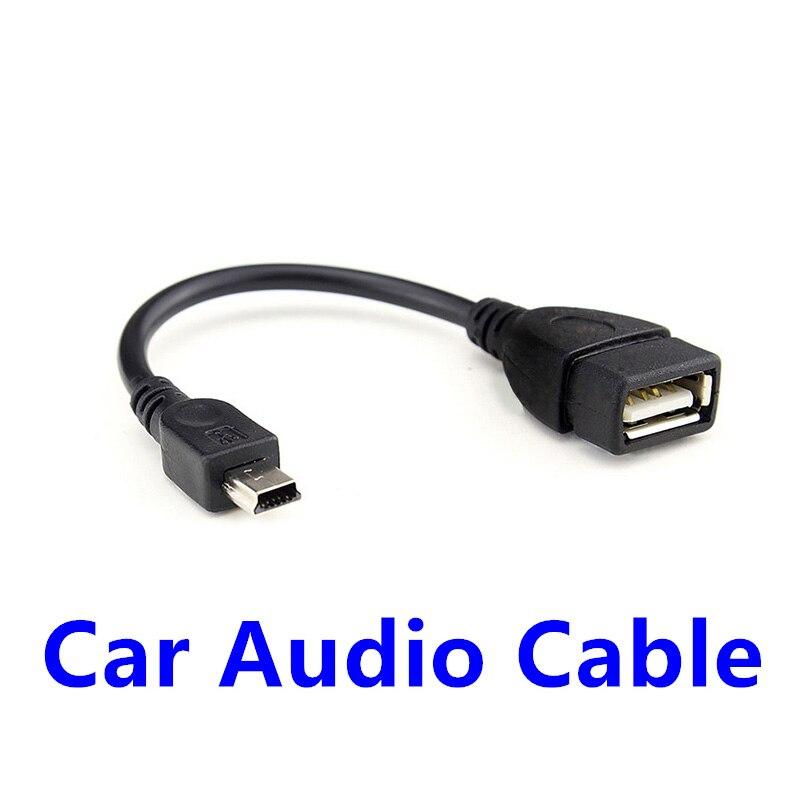 Fffas cabo de áudio do carro mini porto otg cabo adaptador de música flash usb auto linha para autocar peças de automóvel atacado transporte da gota