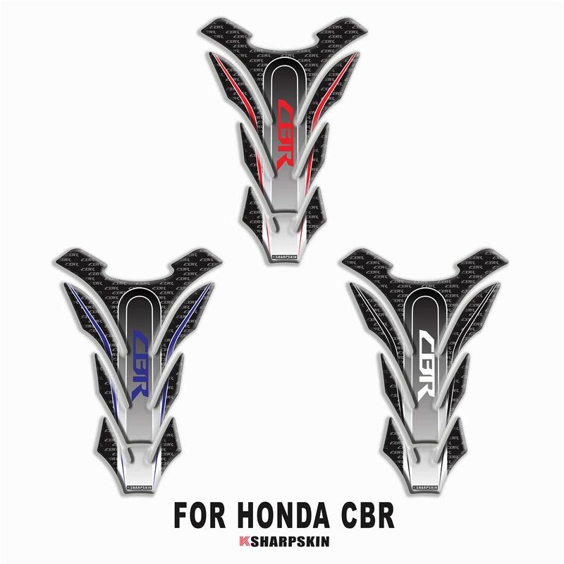 Pegatina de motocicleta, almohadilla de protección de tanque de combustible, resistente a los arañazos, aplique decorativo de espina de pescado para HONDA CBR