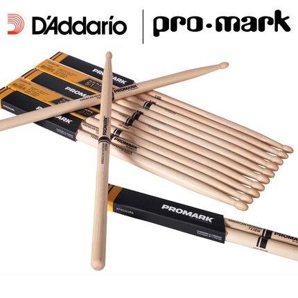 Promark de Daddario TX5BW 5B baquetas de madera con punta de nogal