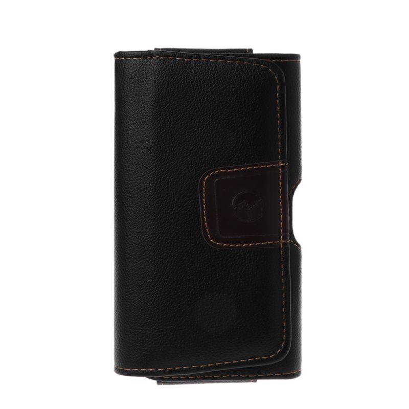 Funda Universal de cuero negro con Clip para cinturón, bolsa para teléfono, riñonera, funda de transporte X 8 para iPhone 7 Plus, accesorios para teléfono móvil