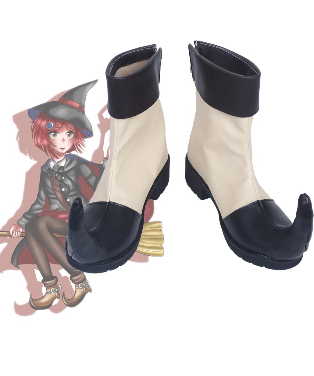 Novo danganronpa v3 himiko yumeno cosplay sapatos botas feito sob encomenda