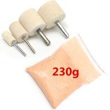 230 grammes verre polissage poudre oxyde de cérium et polissage roue Kit montre verre polissage Kit verre nettoyage ScratchTools