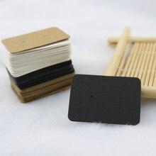 En gros boucle doreille papier Tag 2.5x3.5 cm oreille goujons bijoux affichage cartes 1000 pièces 3 couleur à choisir peut LOGO personnalisé papier prix étiquette