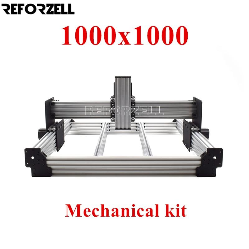 1000mm x 1000mm workbee cnc kit de fresagem cnc kit mecânico