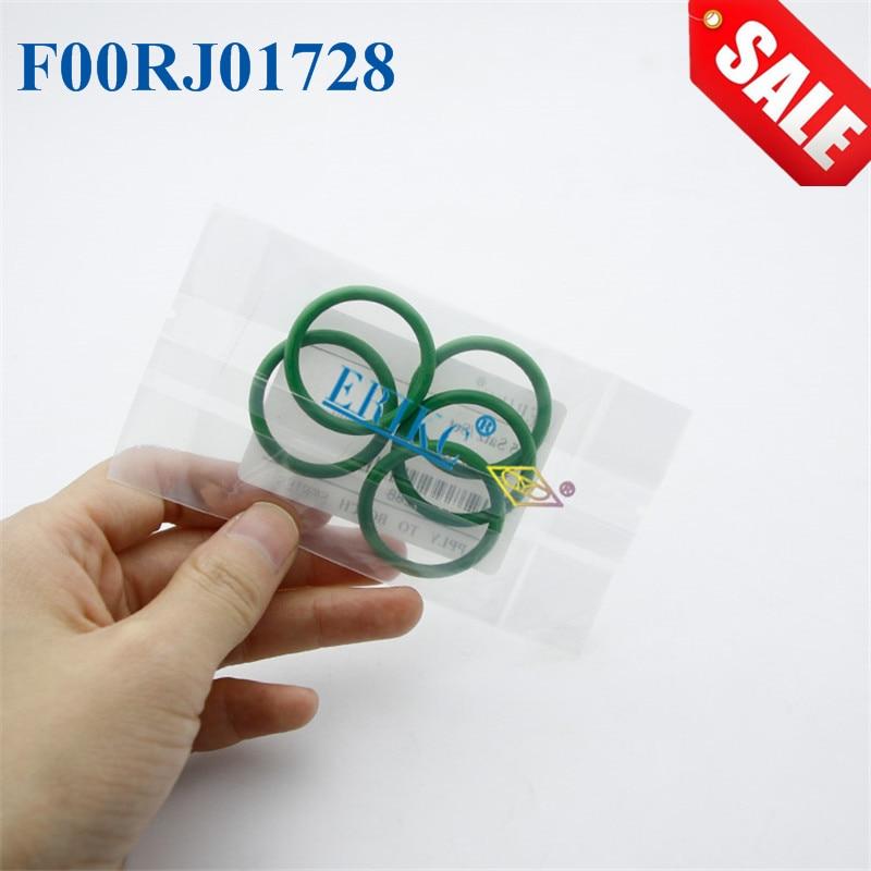 Anillo de goma de sílice ERIKC F00RJ01728 F 00R J01 728, anillo de sello O riel común F00R J01 728 para inyector serie 120, 5 unids/bolsa
