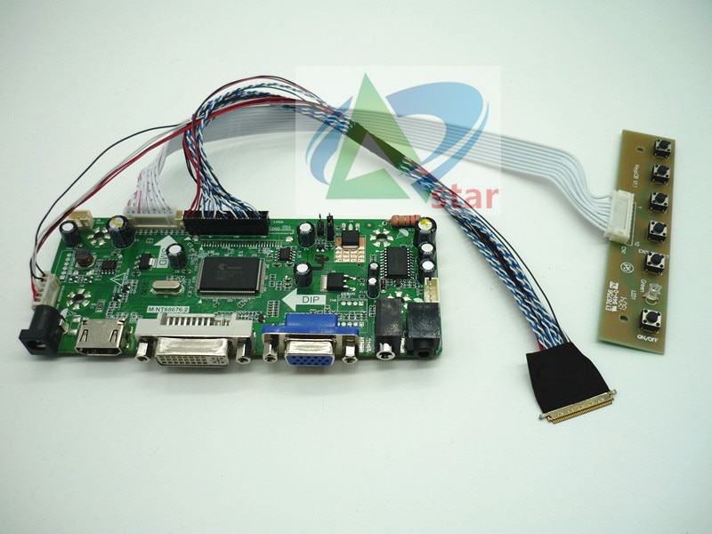 "HDMI+DVI+VGA+AUDIO LCD Controller Board kit 18.4"" N184H6-L02 N184HGE-L21 1920*1080 40needle laptop LCD controller board DIY kits"
