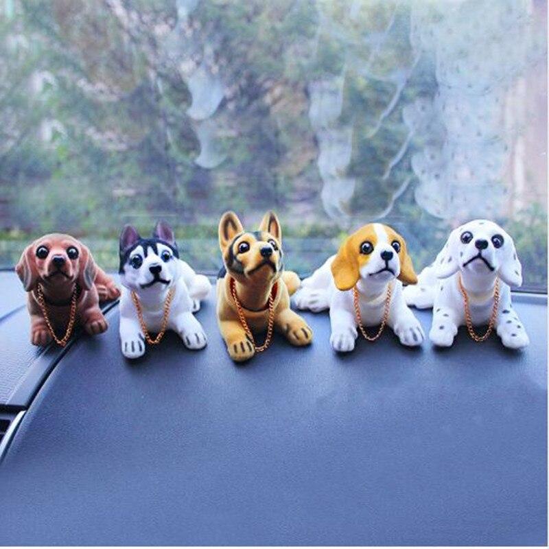 Cabeza Bobble perro coche tablero muñeca Auto sacudiendo cabeza juguete adornos Nodding perro coche Interior muebles decoración regalo