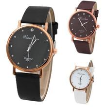 Women  Wrist Watch Diamond Case Leatheroid Band Quartz Analog Watches Plastic Female Lady's Fashion Gift Dropship F913