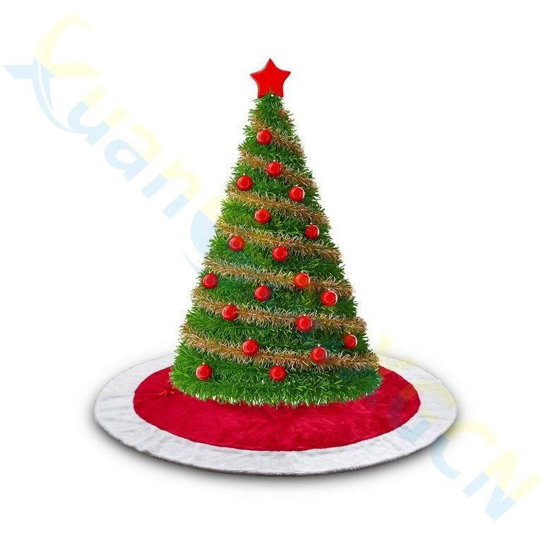 4 piezas de franela de piel de CURPET Shag alfombra hogar bar mercado centro comercial árbol de Navidad falda delantal decoración de Navidad suministros de fiesta