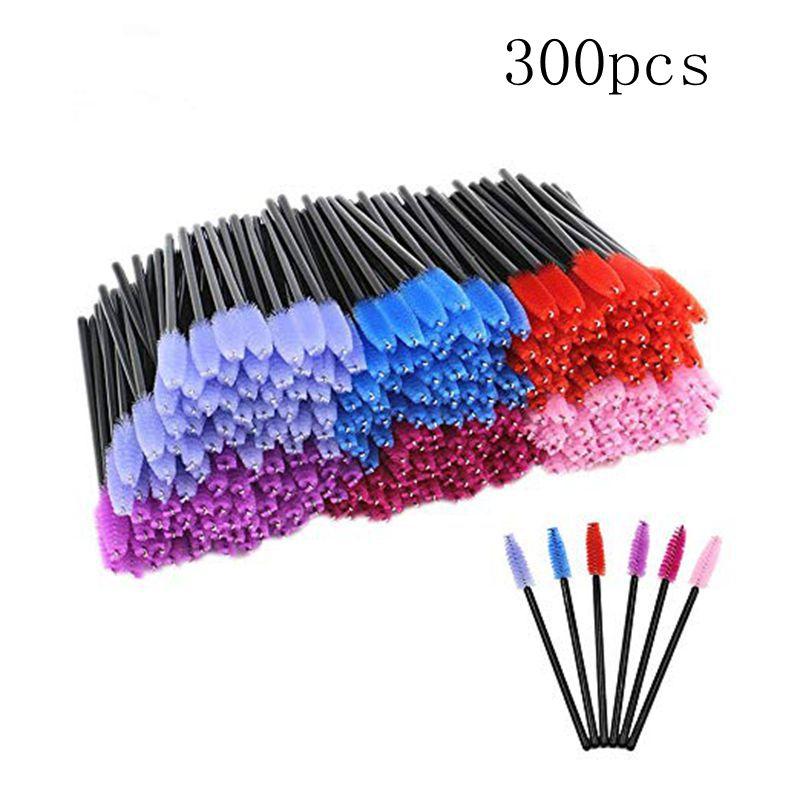 Mascara Wands -300/600/900PCS Colored Disposable Eyelash Mascara Brushes Wands Eyelash Wands Extensions Applicator Makeup Brush