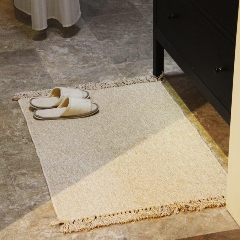 45x7 0/60x9 0/60х130 см однотонный прямоугольный впитывающий коврик нескользящий моющийся коврик для пола тканый ковер для спальни коврик для гост...