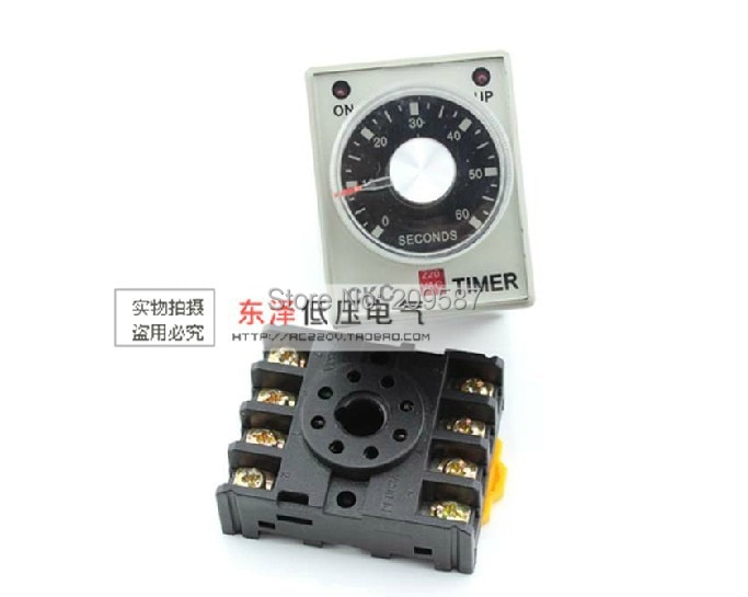 220VAC apagado temporizador 0-10 segundos ST3PF y Base