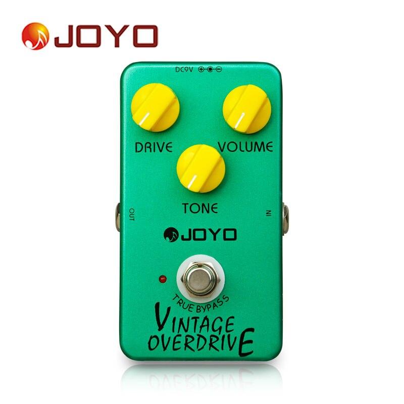 Gran oferta JOYO JF-01 Vintage pedal de efectos de guitarra Overdrive con Ture Bypass de compresión dinámica