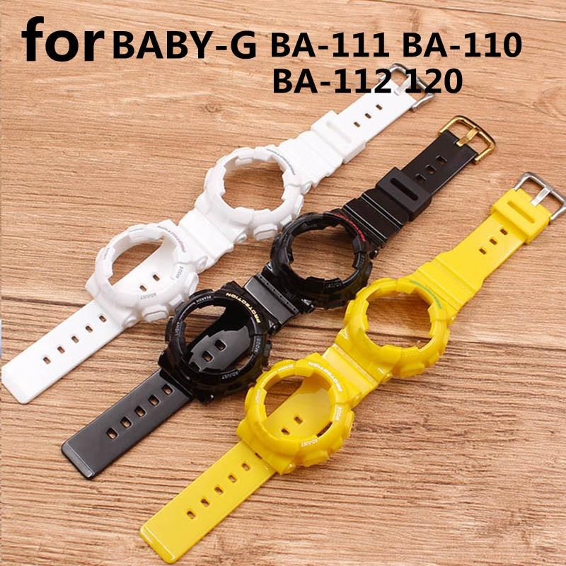 Аксессуары для часов, ремешок для CASIO серии BABY-G, BA-110, 120, 111, спортивные водонепроницаемые женские часы