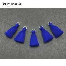 CHENGRUI L102, 3 cm, borla, borlas de algodón, mini borla, accesorios de joyería, accesorios diy, hechos a mano, hallazgos de pendientes, 10 unids/bolsa