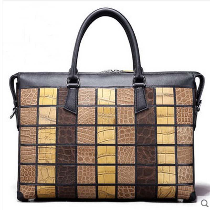 mengzhongmeng crocodile skin men handbag male alligator leather men clutch bag alligator skin