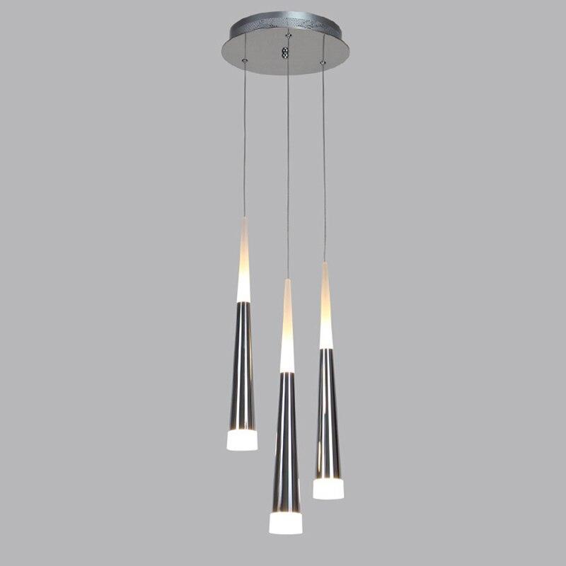مصباح معلق Led حديث مصنوع من الأكريليك والألمنيوم الشفاف ، إضاءة زخرفية داخلية ، مثالي لغرفة المعيشة أو غرفة الطعام أو البار ، شحن مجاني