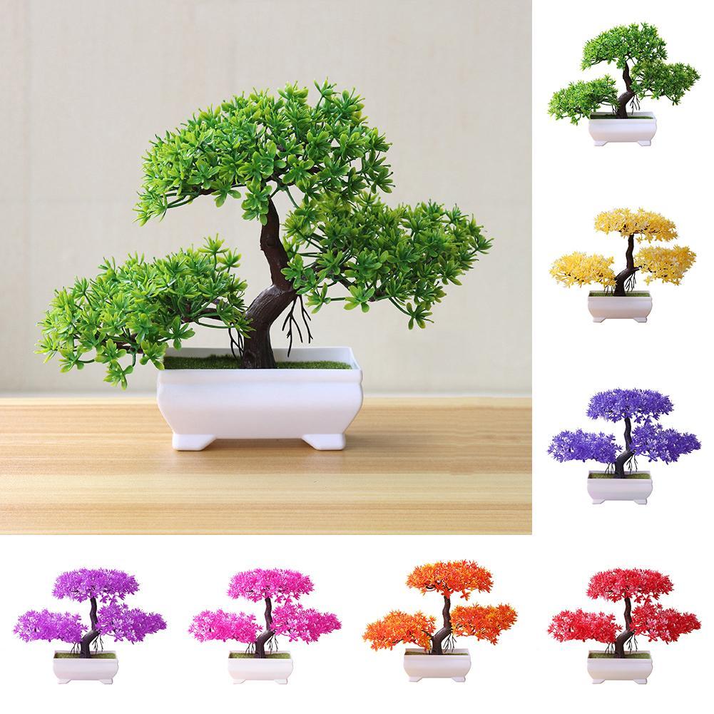 Новый искусственный зеленый горшок, уютная сосна, имитация бонсай, искусственное Горшечное растение, украшение для дома, Прямая поставка