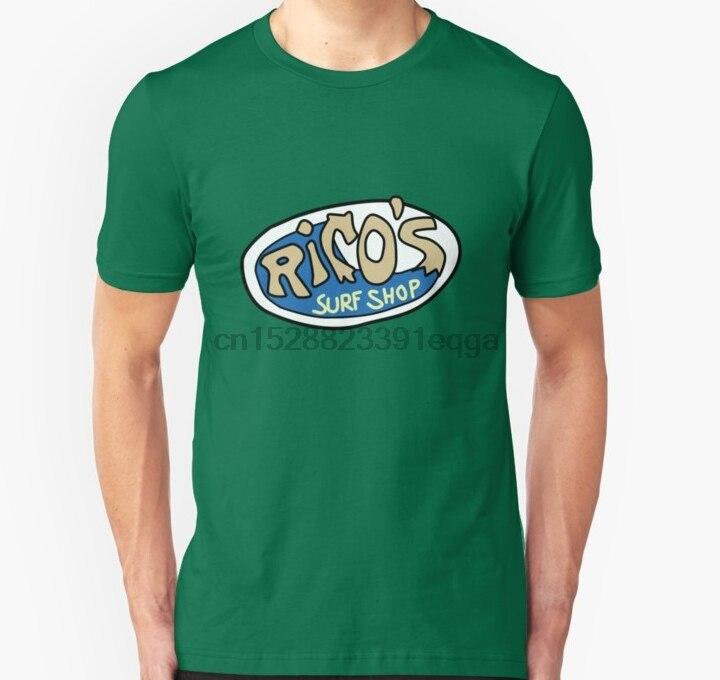 Camiseta de manga corta con Logo de Rico Surf Shop Unisex para hombre