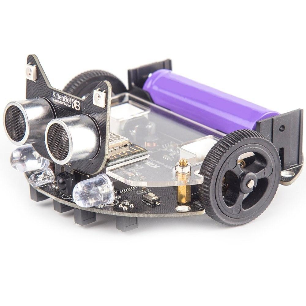 Kittenbot Mini LFR Programmable Robot Kit - Scratch 3.0 - Support Python Program building blocks