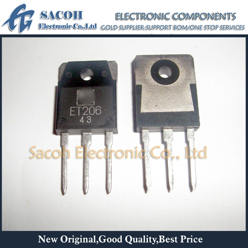Free Shipping 10Pcs ET206 or ET191 or ET190 TO-3P 10A 850V TRIPLE DIFFUSED PLANER TYPE