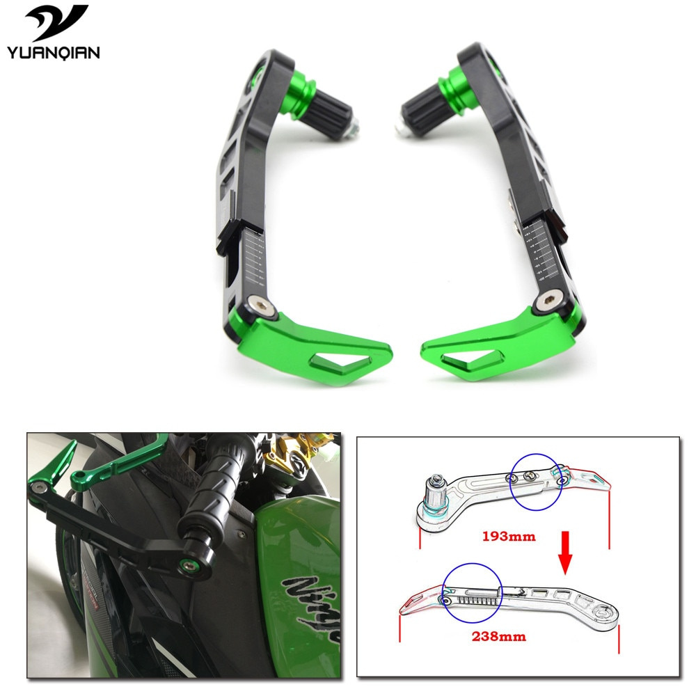 Motorcycle Proguard System Brake Clutch Levers Protect Guard for Kawasaki Z750R ZZR 400 250 1100 ZR7 Versys ZX6R ZX9R ZX12R Z900