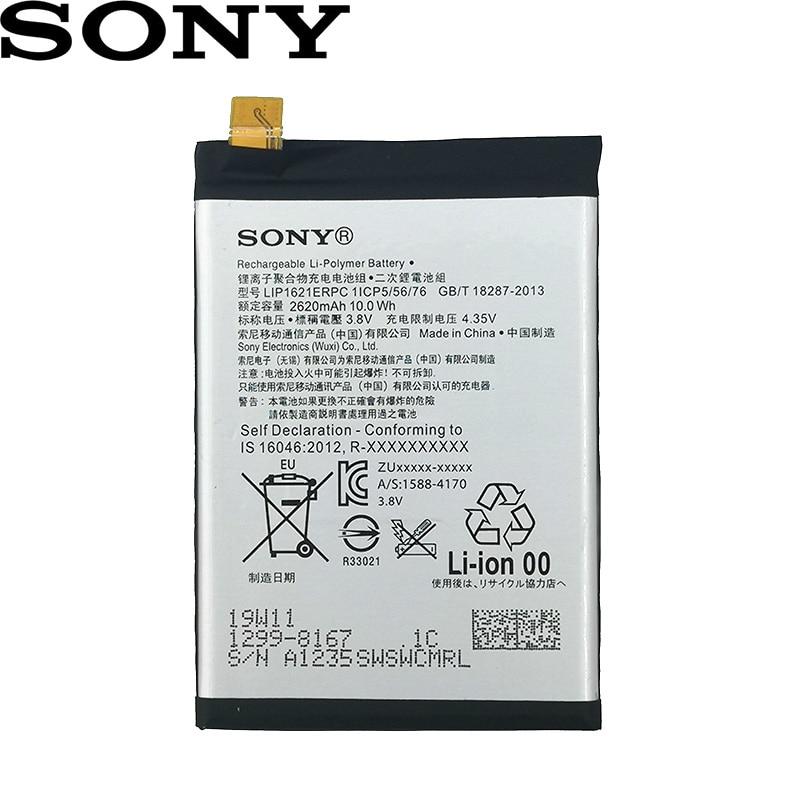 Sony 100 Original Battery For Sony Xperia X F5121 F5122 F5152 5 0 G3311 G3312 G331 High Quality Lip1621erpc 2620mah Mobile Phone Batteries Aliexpress