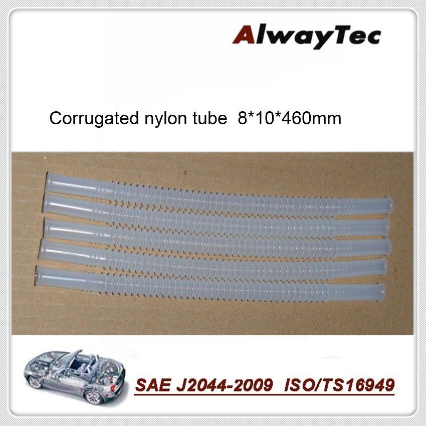8mm * 10mm * 460mm 5 pces por lote combustível corrugado tubo de náilon para carro usado