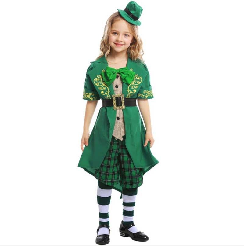 Chico adulto del día de St Patrick disfraz de duende para chico s irlandés ropa exótica elfo verde traje Festival irlandés fiesta de Carnaval traje
