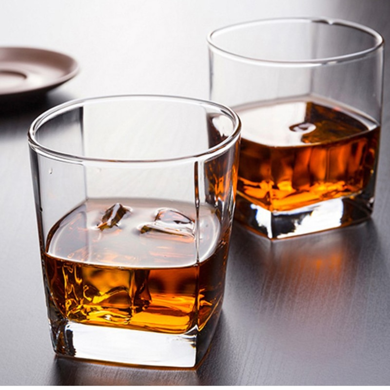 6 قطعة/الوحدة 170 مللي الكلاسيكية ويسكي نظارات سميكة أسفل ويسكي الزجاج واضح الزجاج كأس للبيرة الشاي النبيذ الشرب بار نادي زجاجيات
