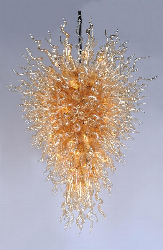 Lámpara de cristal grande barata hecha a mano de vidrio soplado LED 110/240V lámpara de araña-LR380