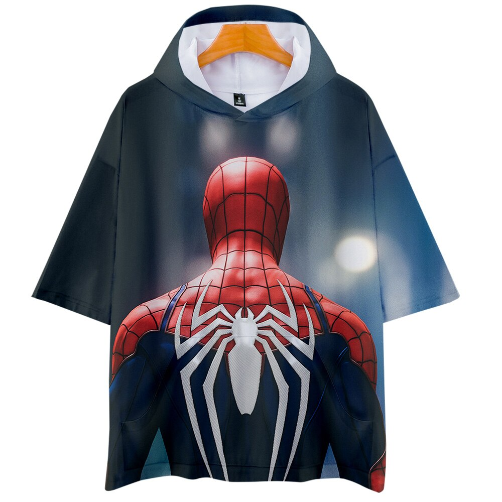 Hombre Araña lejos de casa 3D impreso camisetas con capucha de las mujeres/de los hombres de moda de verano de manga corta Tee 2019 llegada Casual T camisa nueva