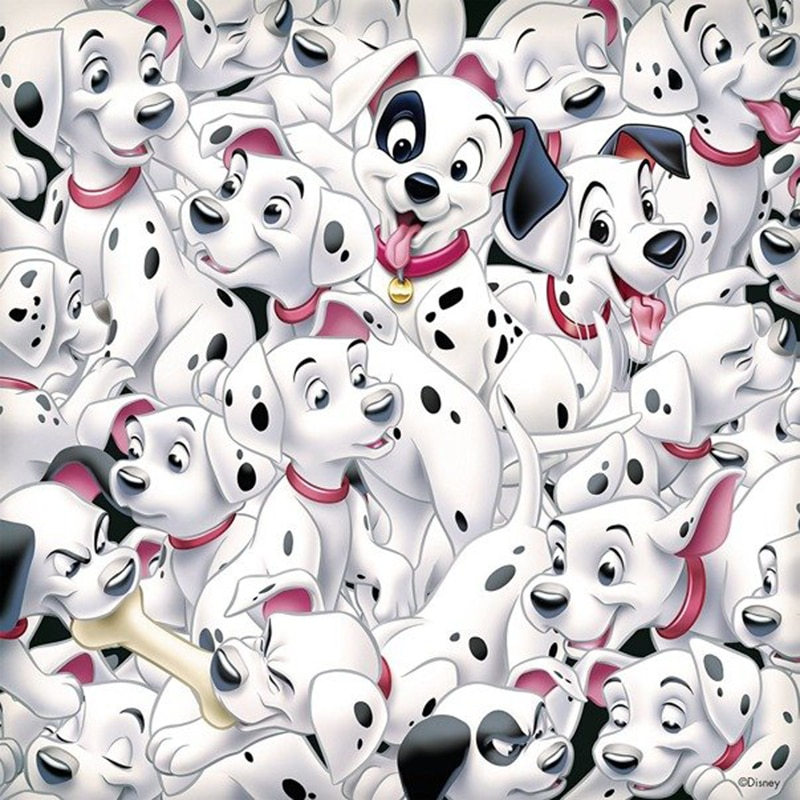 Perceuse 5D Daimond peinture en diamant   Peinture en diamant, peinture «101 dalmatiens, chien