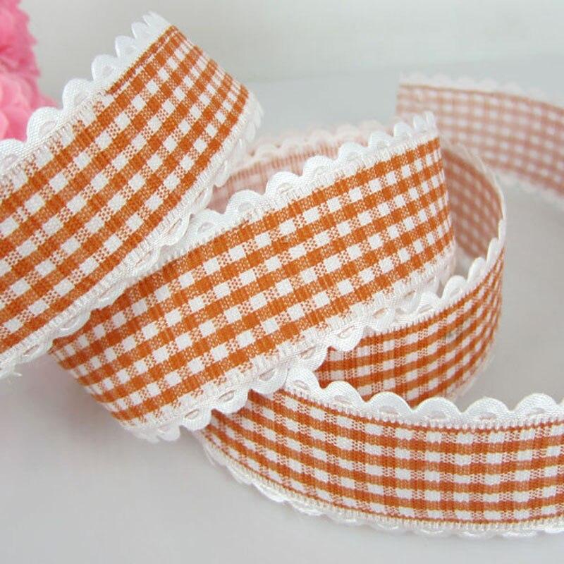 """1 rollo 20 yardas 1 """"impreso tela con encaje naranja cinta para artesanía boda álbum de recortes regalo cintas para envolver 25mm"""
