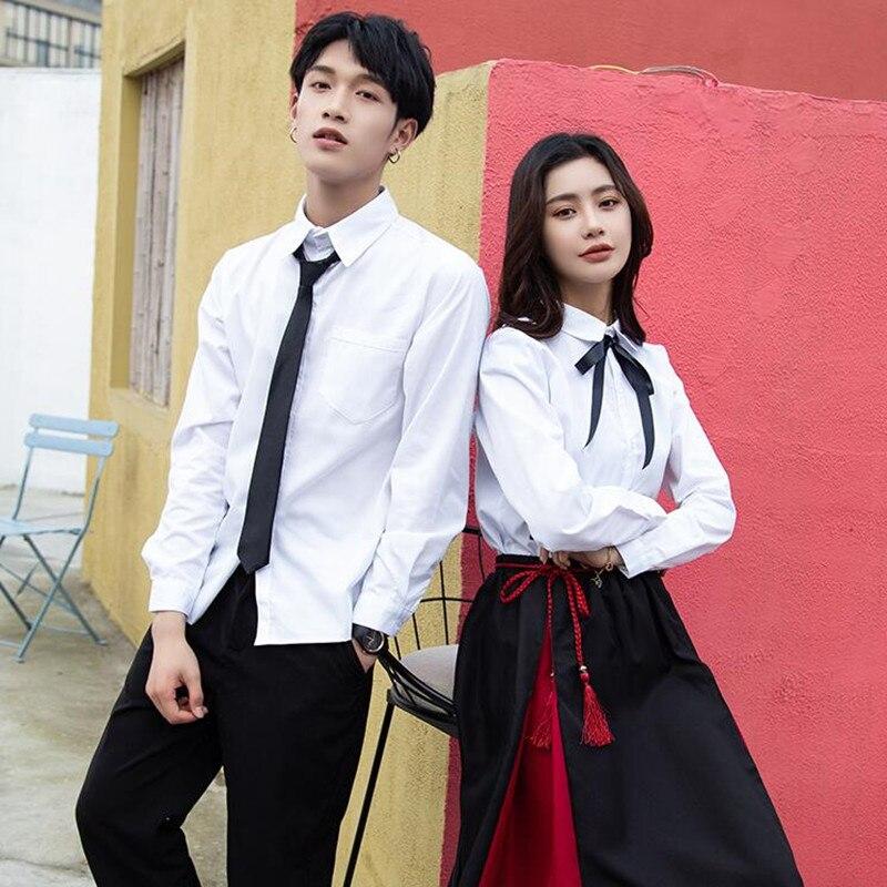 Classe Uniforme Escolar estudante Coreano Terno Britânico Estilo da Colagem Junior Senior High School Uniformes Uniformes Mulheres Menina Conjunto H2453