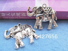5pcs Large Antique silver tone Elephant Pendant Charm/Finding,fit 9pcs Rhinestone,DIY Accessory Jewellry Making