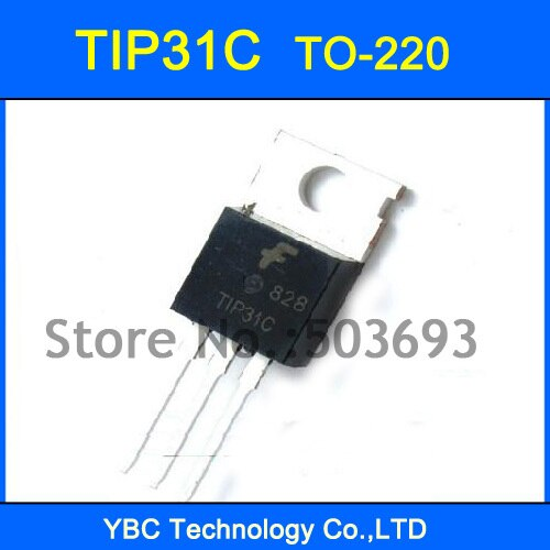 100 قطعة/الوحدة شحن مجاني الصمام الثلاثي الترانزستور TIP31C TIP31 TO-220