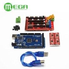 Mega 2560 R3 + 1 pièces rampes 1.4 contrôleur + 4 pièces A4988 Module de pilote pas à pas pour kit dimprimante 3D