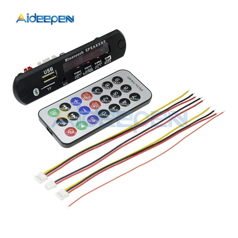 Dc 12 v carro bluetooth mp3 placa de decodificador cartão de som usb tf fm módulo de áudio mp3 player com controle remoto para carro