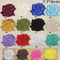 20 pc rose patches iron on embroidered patch for cloth cartoon badge garment appliques diy accessory badges size7 7 6cm