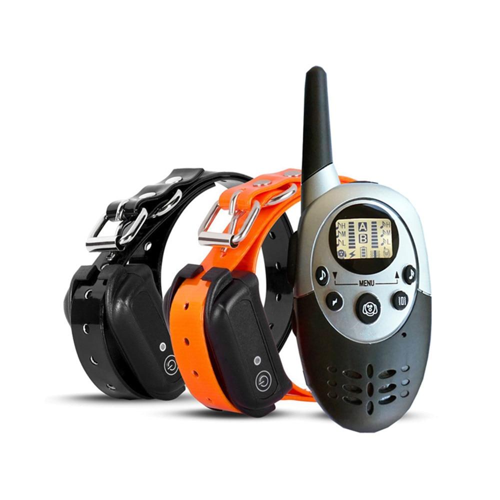 Collar de entrenamiento para perros resistente al agua 100%, con control remoto, recargable, electrónico, para entrenamiento, antiladridos, con vibración de sonido 1100yd
