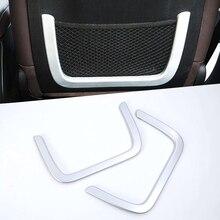 سيارة التصميم ل BMW X3 G01 2018 ماتي مقعد الخلفي صافي إطار الديكور غطاء ملصقا تقليم ألياف الكربون ABS الداخلية اكسسوارات