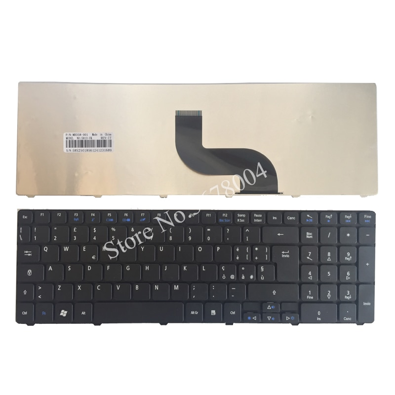 Italian Keyboard For Acer Aspire 5560G 7552G 7535 7535G 7735G 7735Z 7735ZG 5552G 7736 7736G 7736Z 7738 7540 Laptop IT black