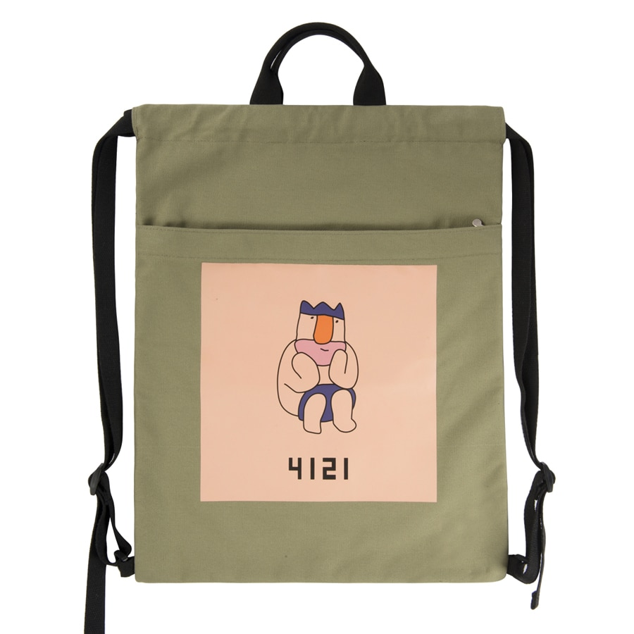 [2018 new arrival]YIZISToRE casual originally designed canvas printed drawstring backpacks in KING series 2(FUN KIK)