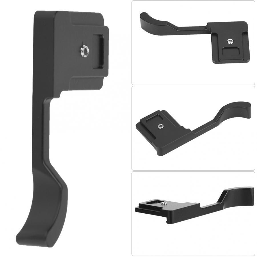 Mini Placa de cámara ligera de Metal negro palanca para pulgar alzado para Fujifilm para Sony NEX6/A6000 para Fujifilm para Olympus
