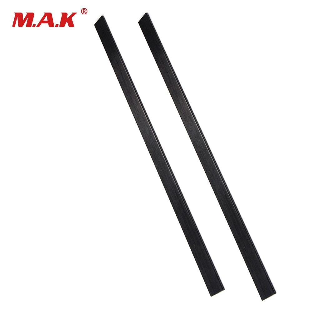 2pc High Strength Black 6mmx30mmx600mm Mixed Fiberglass Bow Limbs  for DIY Bow Wargame Archery Shooting