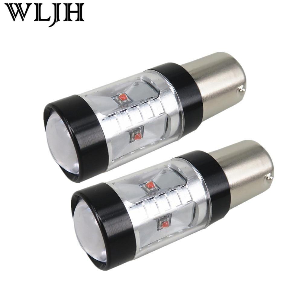 WLJH 2x rojo 30W 800lm XBD LED Chip 1156 BA15S P21W del coche LED de luz trasera de freno lámpara bombillas para Audi / BMW/Volkswagen/mercedes benz