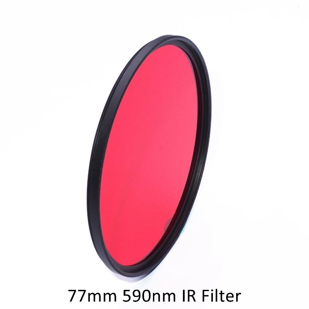 77mm 590nm Infrared IR Optical Grade Filter for Lens 77 R59 D3100 D3200 D7000 Lens 28-70mm 17-35mm 80-200mm